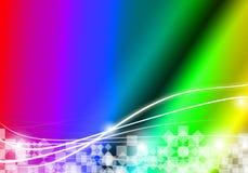 Färgrik kurvrektangel för abstrakt bakgrund med mellanrumet för text Arkivfoton