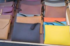 Färgrik läderpåse Royaltyfria Foton