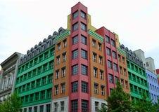Färgrik lägenhet Fotografering för Bildbyråer