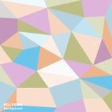 Färgrik låg Poly abstrakt bakgrund Arkivbild