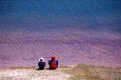 färgrik lake Arkivbild