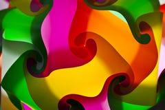 färgrik lampa för konst Arkivfoton