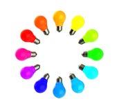 färgrik lampa för kulor Arkivbilder