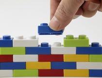 Färgrik lego royaltyfri bild