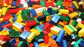 Färgrik lego royaltyfri fotografi