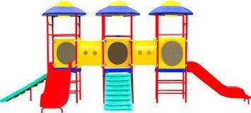 Färgrik lekplats för barn. Isolerat på Royaltyfria Bilder