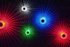 färgrik lighting Royaltyfri Foto