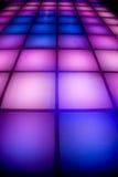 färgrik lighting för dansdiskogolv Arkivbild