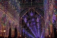 färgrik lightinggata royaltyfri foto