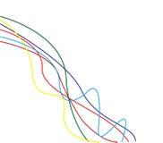 färgrik linje royaltyfri illustrationer