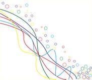 färgrik linje vektor illustrationer