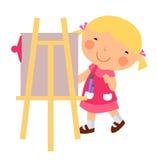 färgrik liten målare Royaltyfri Fotografi
