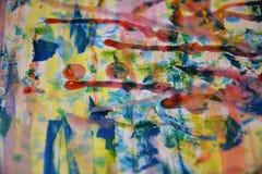 Färgrik livlig målarfärg, rött vax, abstrakt bakgrund för vattenfärg Royaltyfri Bild