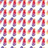 Färgrik ljus älskvärd komfortsommarmodell av vattenfärgen för misslyckanden för flip för strandguling den orange rosa röda blåa p royaltyfri illustrationer