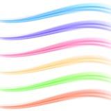 Färgrik ljus baneravdelarsamling stock illustrationer