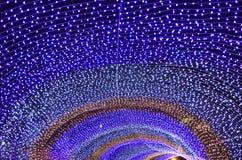 färgrik ljus bokeh och jul Royaltyfri Foto