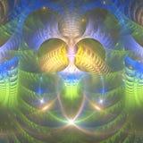Färgrik ljus fractalabstrakt begreppbakgrund Arkivbild