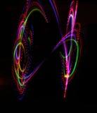 Färgrik ljus lysande textur på svart royaltyfri fotografi