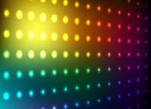 färgrik ljus vägg för klubba Arkivfoto