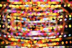 Färgrik ljusbakgrund för Defocused bokeh Royaltyfri Bild