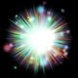 Färgrik ljusbristning Arkivfoto