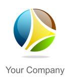 färgrik logo Royaltyfria Foton