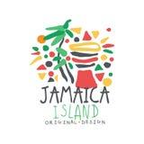 Färgrik logo för Jamaica sommarsemester vektor illustrationer