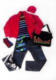 Färgrik lookmankläder i en isolerad planera Arkivfoto