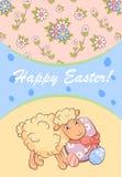 Färgrik lycklig påskaffisch vektor illustrationer