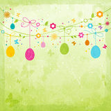 Färgrik lycklig påskdesign Arkivbild