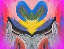 Färgrik målad abstrakt textur som kan använda som bakgrund Arkivbilder