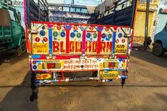 Färgrik målad lastbil Royaltyfri Bild