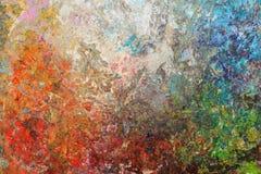 Färgrik målarfärg Arkivfoto