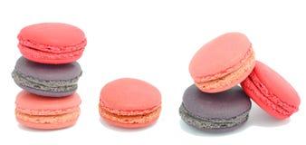 färgrik macaron Fotografering för Bildbyråer