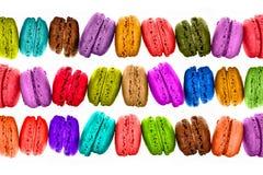 Färgrik macaronsbakgrund Arkivbilder