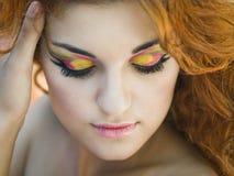 färgrik makeup Royaltyfri Fotografi