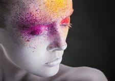 färgrik makeup Royaltyfria Bilder