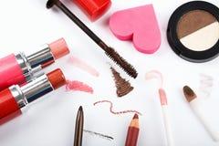 färgrik makeup för samling Arkivbild