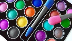 färgrik makeuppalett Royaltyfri Fotografi
