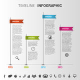 Färgrik mall för timelineInfographic design vektor Royaltyfria Bilder