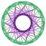 färgrik mandala Fotografering för Bildbyråer