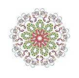 Färgrik mandala med cirklar fotografering för bildbyråer