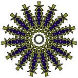 Färgrik mandala på den vita bakgrunden Royaltyfri Bild