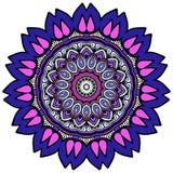 Färgrik mandala på den vita bakgrunden Royaltyfri Fotografi