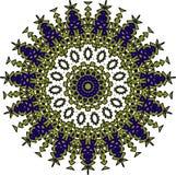 Färgrik mandala på den vita bakgrunden Arkivbild