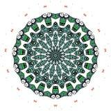 Färgrik mandala på den vita bakgrunden Arkivfoton