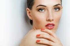 färgrik manicure Royaltyfri Foto