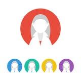 Färgrik manlig användareteckensymbol Mänsklig avatar Royaltyfria Bilder
