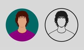 Färgrik manlig Avatarsymbol stock illustrationer