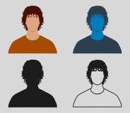 Färgrik manlig Avatarsymbol vektor illustrationer
